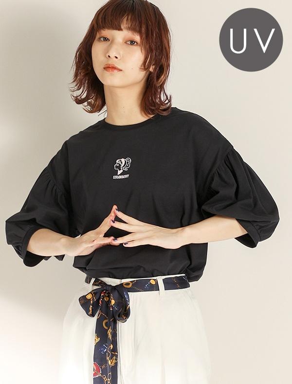 女の子刺繍Tシャツ