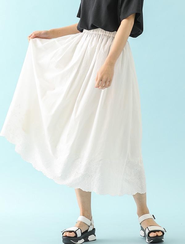 刺繍ロングスカート