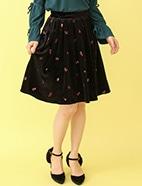 べロア刺繍スカート