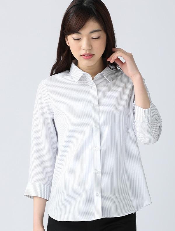 7分袖レギュラーシャツ